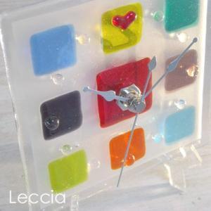 ガラス製インテリア掛け置き時計 Pacato-004|leccia