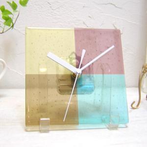 ガラス製インテリア掛け置き時計 Sentendo-034|leccia