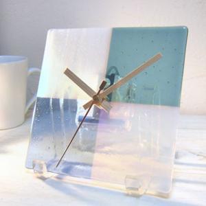 ガラス製インテリア掛け置き時計 Sentendo-036|leccia