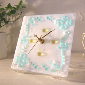 ガラス製インテリア掛け置き時計 Tubino-001|leccia