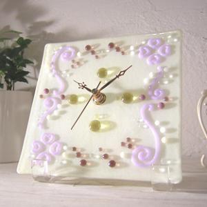 ガラス製インテリア掛け置き時計 Tubino-002|leccia