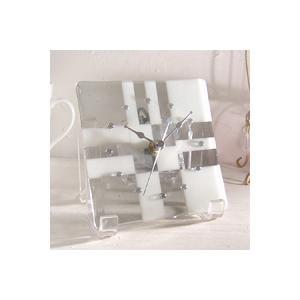 ガラス製インテリア掛け置き時計 Vicolo-001 leccia