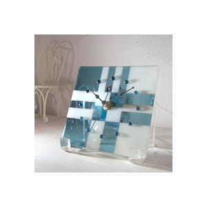 ガラス製インテリア掛け置き時計 Vicolo-002 leccia