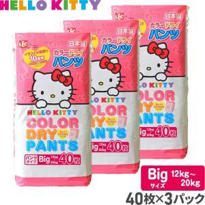 【送料無料】おむつ キティ カラー ドライパンツ Bigサイズ 40枚×3パック 計120枚 紙おむ...