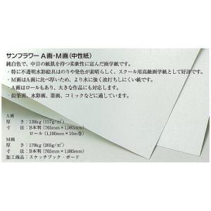 サンフラワー M画用紙 200枚包 16切(197×272mm)