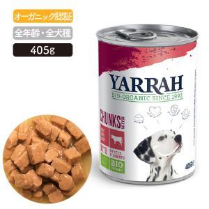 ヤラー(YARRAH)ドッグディナービーフチャンク缶400g|lechien-life