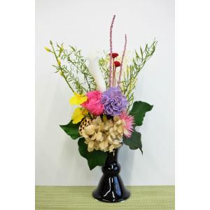 プリザーブドフラワー お供え 仏花 あこや|lecocon