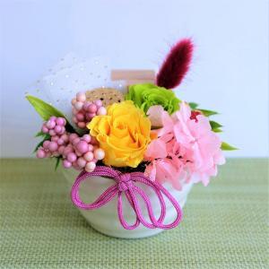 プリザーブドフラワー お供え 仏花 写真立て こはる|lecocon
