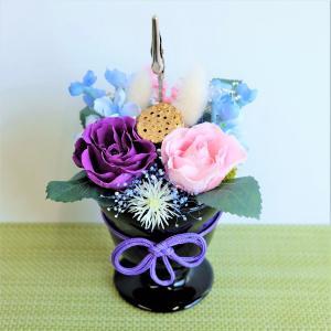 プリザーブドフラワー お供え 仏花 写真立て いぶき|lecocon