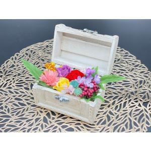 プリザーブドフラワー アレンジメント 記念日 お祝い ギフト フラワーボックス木箱|lecocon