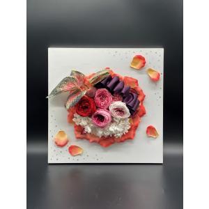 プリザーブドフラワー 開店 開業 お祝い 壁掛け インテリア ピンクペタル|lecocon