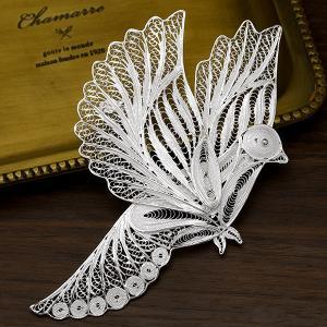 フィリグリー バード ブローチペンダント 美しい手仕事の繊細な銀線細工 ジョグジャカルタ KA79 ...