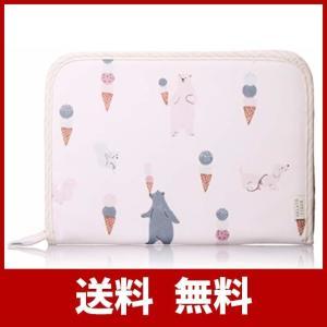 [ジェラート ピケ] アイスクリームアニマル柄横型母子手帳ケース PWGG194585