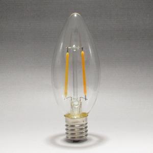 フィラメントLEDシャンデリア球2W 2700K 口金E17 電球色 25W相当形 [CLF2-E17WW]