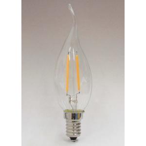 フィラメントLEDシャンデリア球2W 口金E12 電球色 25W相当 [CLF2M-E12WW]