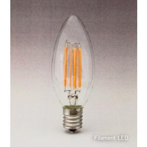 フィラメントLEDシャンデリア球4W 2200K 口金E17 濃い電球色 40W相当形 [CLF4-E1722]