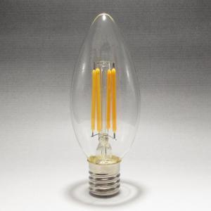 フィラメントLEDシャンデリア球4W 2700K 口金E17 電球色 40W相当形  [CLF4-E17WW]