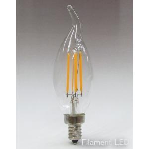 フィラメントLEDシャンデリア球4W 口金E14 電球色 40W相当 [CLF4M-E14WW]