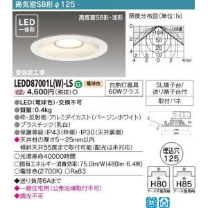 【送料最安値!】住宅用・東芝LED照明 LED一体形 高気密SB形 φ125 LEDダウンライト LEDD87001L(W)-LS led-fukyuu-iinkai