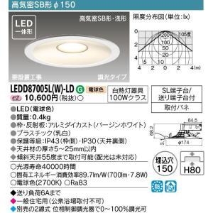 【送料最安値!】東芝LED照明 LED一体形  高気密SB形調光タイプ φ150  LEDダウンライト LEDD87005L(W)-LD led-fukyuu-iinkai