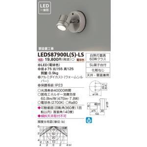 【送料最安値!】東芝LED照明 LED一体形 センサーなしタイプ φ75  LEDスポットライト LEDS87900L(S)-LS|led-fukyuu-iinkai