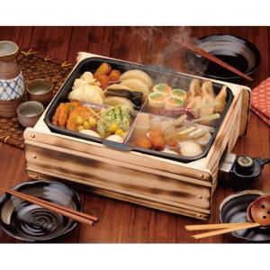 ※メーカー取寄せ商品【日本製】多用途おでん鍋 ふるさとのれん / 電気鍋 / 蒸し器