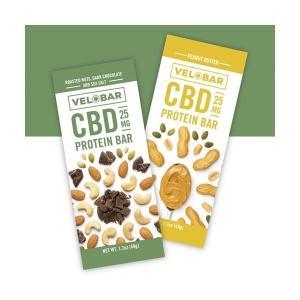 CBD プロテインバー Velobar CBD 25mg 含有 protein Bar ベロバー  睡眠 オーガニック  ヘンプ HEMP 正規品 oil  WAX vape 高濃度 ブロードスペクトラム  大麻