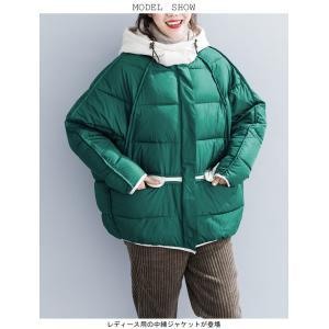 中綿ジャケット レディース 厚手 ジャケット 色切り替え フード付き 中綿コート 防寒 女性用 中綿 アウター 厚手 冬物 可愛い|lefutur|03