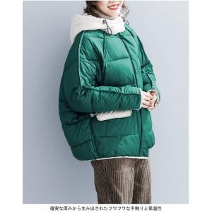 中綿ジャケット レディース 厚手 ジャケット 色切り替え フード付き 中綿コート 防寒 女性用 中綿 アウター 厚手 冬物 可愛い|lefutur|04