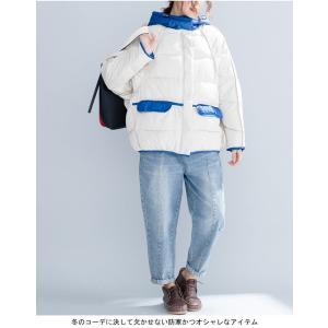 中綿ジャケット レディース 厚手 ジャケット 色切り替え フード付き 中綿コート 防寒 女性用 中綿 アウター 厚手 冬物 可愛い|lefutur|08