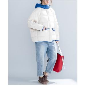 中綿ジャケット レディース 厚手 ジャケット 色切り替え フード付き 中綿コート 防寒 女性用 中綿 アウター 厚手 冬物 可愛い|lefutur|09