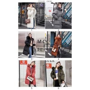 ロング コート レディース 中綿 コート 女性用 中綿ジャケット フード付き フェイクファー コート 防寒 レディース 中綿 アウター 厚手 冬物|lefutur|02