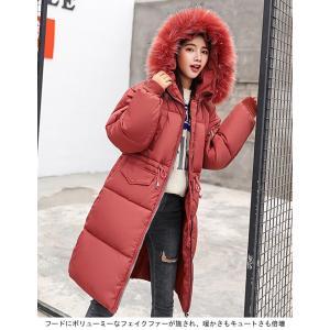ロング コート レディース 中綿 コート 女性用 中綿ジャケット フード付き フェイクファー コート 防寒 レディース 中綿 アウター 厚手 冬物|lefutur|05
