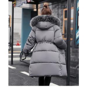 ロング コート レディース 中綿 コート 女性用 中綿ジャケット フード付き フェイクファー コート 防寒 レディース 中綿 アウター 厚手 冬物|lefutur|09