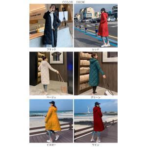 中綿コート レディース キルティングコート フード付き コート 厚手 女性 アウター 中綿 暖かい 冬 お洒落 シンプル|lefutur|02