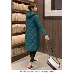 中綿コート レディース キルティングコート フード付き コート 厚手 女性 アウター 中綿 暖かい 冬 お洒落 シンプル|lefutur|04