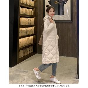 中綿コート レディース キルティングコート フード付き コート 厚手 女性 アウター 中綿 暖かい 冬 お洒落 シンプル|lefutur|07