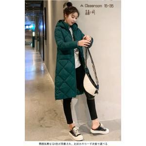 中綿コート レディース キルティングコート フード付き コート 厚手 女性 アウター 中綿 暖かい 冬 お洒落 シンプル|lefutur|10