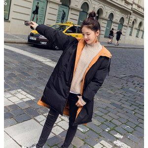 レディース 中綿コート リバーシブル 冬コート フード付き 厚手 女性 中綿 コート フワフワ アウター 冬 暖かい カジュアル お洒落|lefutur|10