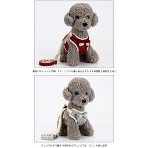 犬用 ハーネス リード 2点セット 胴輪 チェック柄 犬服 小型犬 ペット用品 蝶ネクタイ ドッグウェア 可愛い ペット服 お洒落|lefutur|06