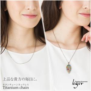 チタン チェーン A50F ( 純チタン / 50cm / 2.0mm幅 / フックタイプ / 小豆タイプ / ネックレス )|leger