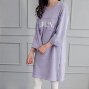 レディース  ビッグシルエットワンピース チュニック   ロゴ 春 きれいめ 体型カバー 大人カジュアル レディースファッション 韓国 韓国ファッション|legicajeana