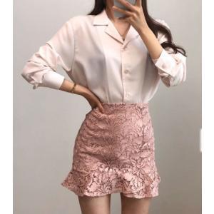 レディース トップス  開襟ブラウス シャツ  春 きれいめ 体型カバー 大人カジュアル レディースファッション 韓国 韓国ファッション legicajeana