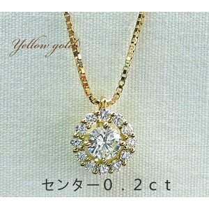 K18製 ダイヤモンドネックレス 0.2ct ダイヤネックレス  ネックレス 記念日 プレゼント  ...