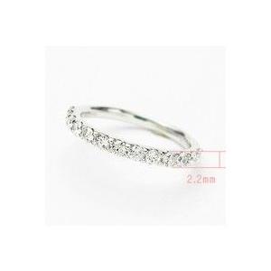 トータル0.50カラットup Gカラーup SIクラス GOODup プラチナ ダイヤモンド ハーフエタニティ リング 爪留めタイプ|lehaim