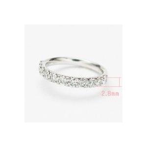 トータル0.70カラットup Gカラーup SIクラス GOODup プラチナ ダイヤモンド ハーフエタニティ リング 爪留めタイプ|lehaim