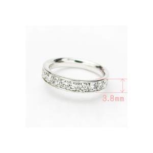 トータル0.70カラットup Gカラーup SIクラス GOOD up プラチナ ダイヤモンド ハーフエタニティ リング レールタイプ|lehaim