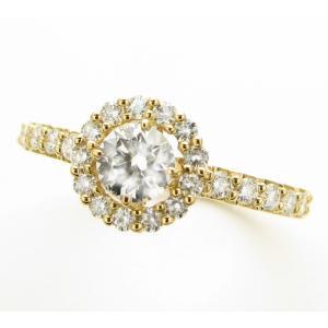 売り切れました!K18 ゴールド ダイヤモンド リング 0.3カラット GIA鑑定書付き Dカラー SI2 トリプルエクセレント|lehaim