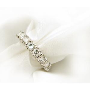 売り切れました。1.5カラットダイヤモンドリング 指輪  プラチナ900使用 ハーフエタニティリング...