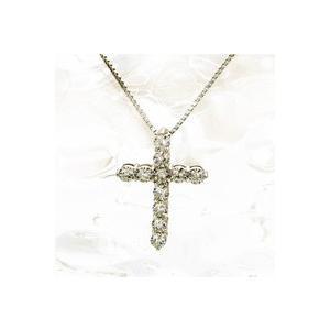 ダイヤモンド ネックレス プラチナ製   ダイヤネックレス 0.5ctダイヤモンド クロス  クロス...